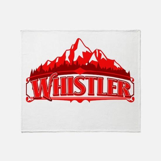 Whistler Red Mountain Throw Blanket
