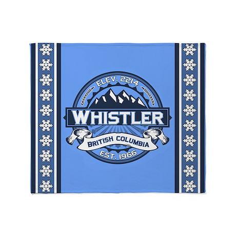 Whistler Blue Throw Blanket