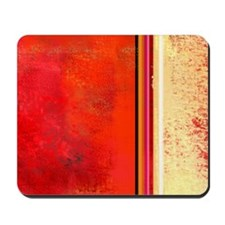 Abstract Red & Cream Mousepad
