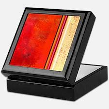 Abstract Red & Cream Keepsake Box