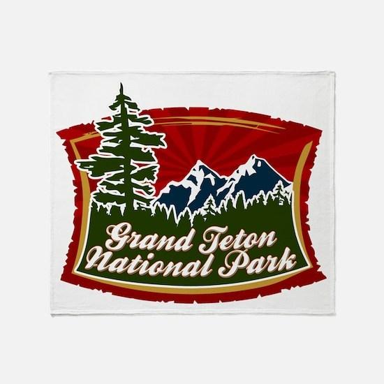 Grand Teton Mountains Throw Blanket