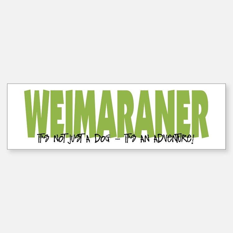 Weimaraner IT'S AN ADVENTURE Bumper Bumper Bumper Sticker