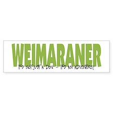 Weimaraner IT'S AN ADVENTURE Bumper Bumper Sticker