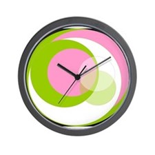 Pink N Green Thing Wall Clock