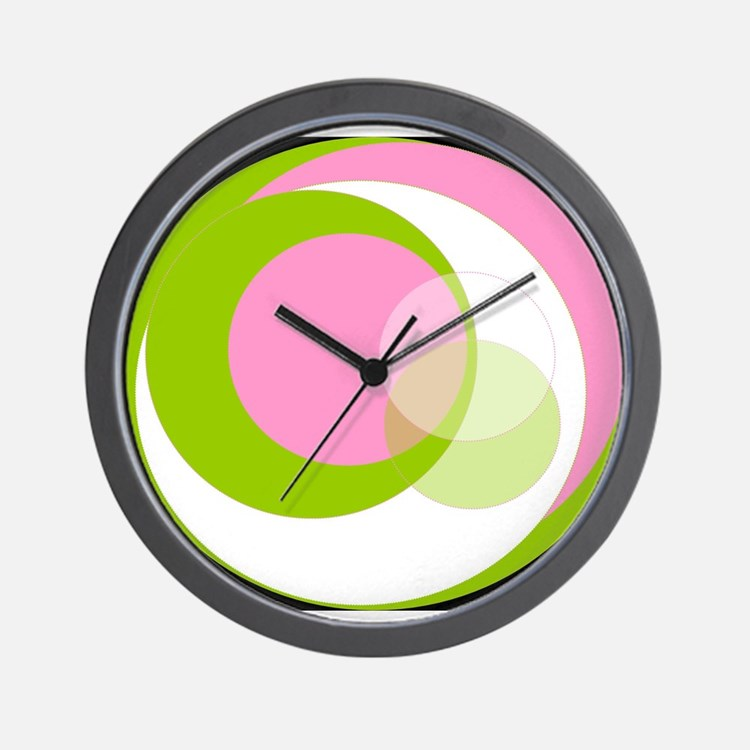 Pink N Green Thing Wall Clock