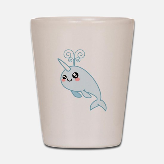 Narwhal Cutie Shot Glass
