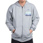 Boxy the Whale Zip Hoodie