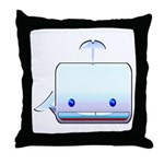 Boxy the Whale Throw Pillow
