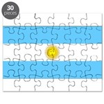 Argentina Blank Flag Puzzle