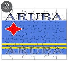 Aruba Aruban Flag Puzzle