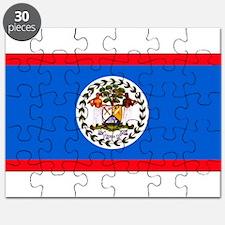 Belize Blank Flag Puzzle