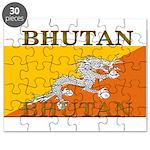 Bhutan Flag Puzzle