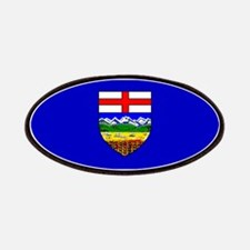 Alberta Albertan Blank Flag Patches