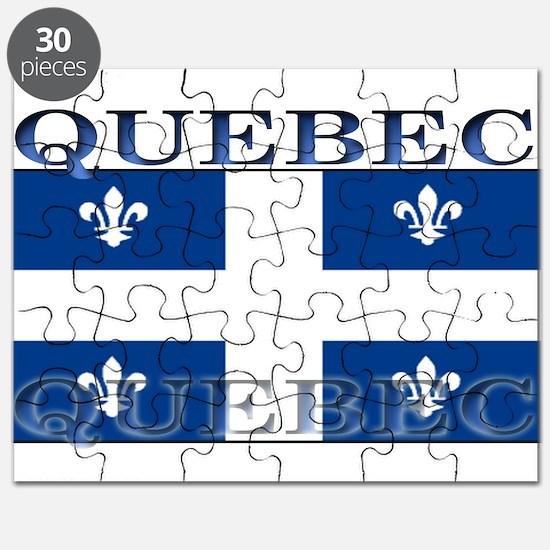 Quebec Quebecer Flag Puzzle