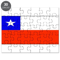 Chile Blank Flag Puzzle