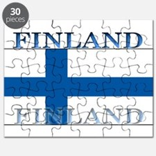 Finland Finish Flag Puzzle