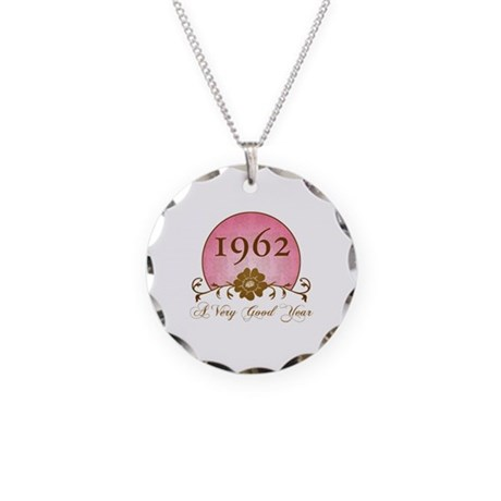 1962 A Very Good Year Necklace Circle Charm