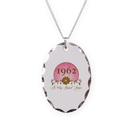 1962 A Very Good Year Necklace Oval Charm