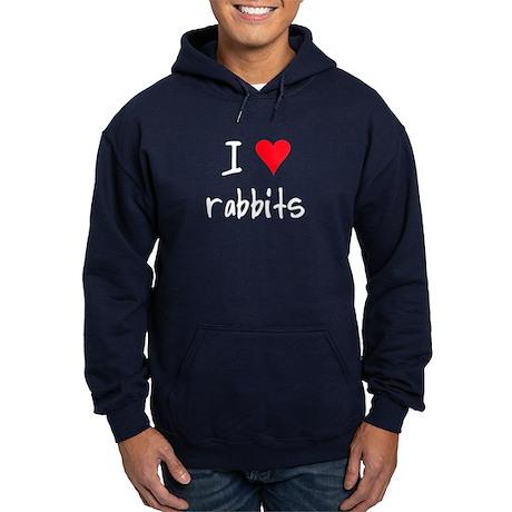 I LOVE Rabbits Hoodie (dark)
