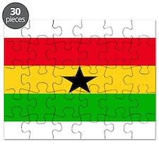 Ghana Blank Flag Puzzle