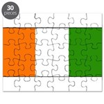 Ivory Coast Blank Flag Puzzle