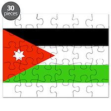 Jordan Jordanian Blank Flag Puzzle
