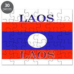Laos Lao Flag Puzzle