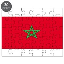 Morocco Moroccan Blank Flag Puzzle