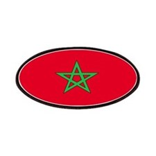 Morocco Moroccan Blank Flag Patches