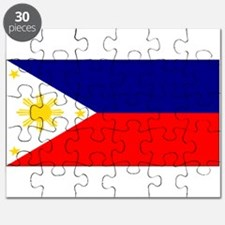 Filipino Pilipinas Blank Flag Puzzle