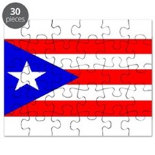 Puerto Rico Blank Flag Puzzle