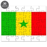 Senegal Blank Flag Puzzle