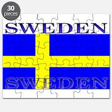 Sweden Swedish Flag Puzzle