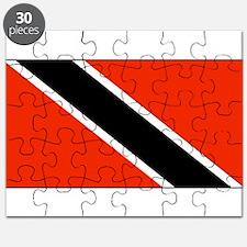 Trinidad Tobago Blank Flag Puzzle