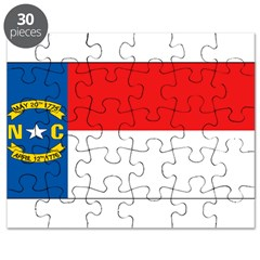 North Carolina Blank Flag Puzzle