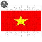 Vietnam Vietnamese Blank Flag Puzzle