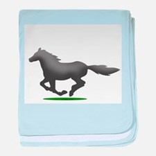 Horse (JR) baby blanket