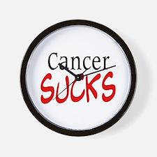Cancer Sucks on a Wall Clock