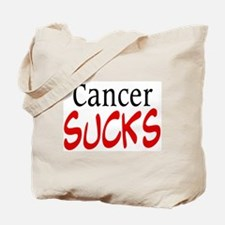 Cancer Sucks on a Tote Bag