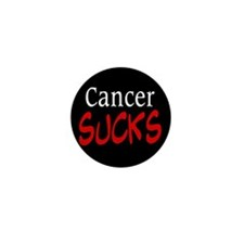 Cancer Sucks on a Mini Button