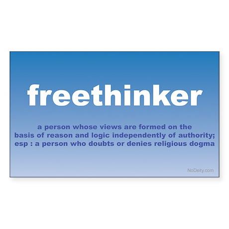 Freethinker Definition Rectangle Sticker