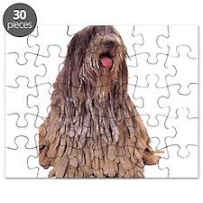 Bergamasco Sheepdog Sitting Puzzle