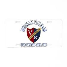 Vietnam Vet USS Skagit Aluminum License Plate