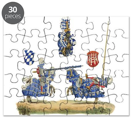 Knights Jousting Locks & Keys Puzzle