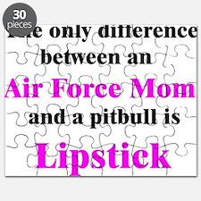 Air Force Mom Pitbull Lipstic Puzzle