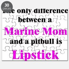 Marine Mom Pitbull Lipstick Puzzle