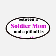 Soldier Mom Pitbull Lipstick Patches