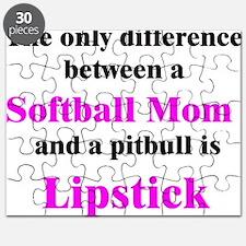 Softball Mom Pitbull Lipstick Puzzle