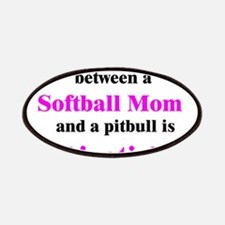 Softball Mom Pitbull Lipstick Patches