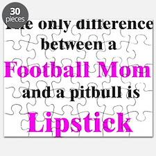 Football Mom Pitbull Lipstick Puzzle